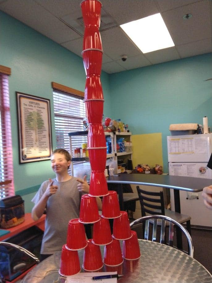 Cup tower photo